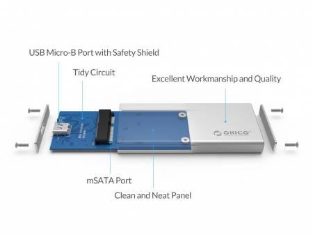 Кутия за диск Orico MSA-UC3 M-SATA SSD Type-C