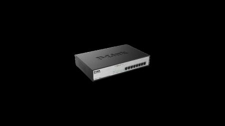 Комутатор D-Link 8-Port Desktop Gigabit PoE+ Switch DGS-1008MP