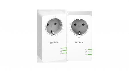 Адаптер D-Link DHP-P601AV/E PowerLine AV2 1000 HD Gigabit Starter Kit DHP-P601AV/E