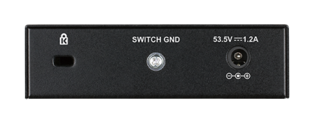 Комутатор DGS-1005P/E 5-Port Desktop Gigabit PoE+ Switch With 4 PoE Ports - 60w power budget