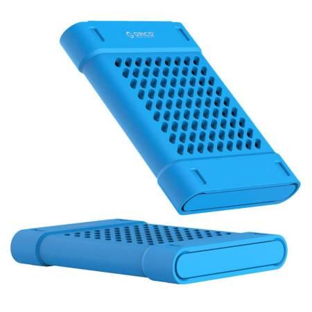 Силиконово защитно калъфче за 2.5-инчови HDD/SSD Orico PHS-25-BL в син цвят