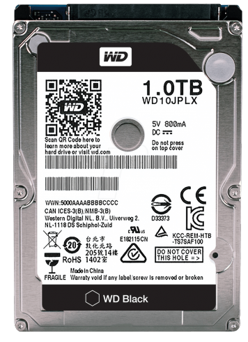 "Твърд диск WD 1TB 2.5"" WD10JPLX"