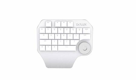 Дизайнерска клавиатура Delux Designer T11 сребрист цвят