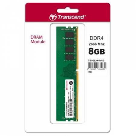 Transcend 4GB DDR4 2666Mhz U-DIMM 1Rx8 512Mx8 CL19 1.2V