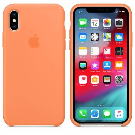 Apple iPhone XS Silicone Case - Papaya (Seasonal Spring2019)