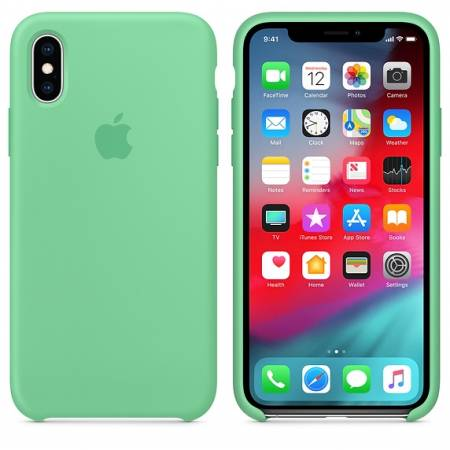 Apple iPhone XS Silicone Case - Spearmint (Seasonal Spring2019)