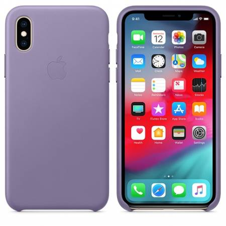 Apple iPhone XS Leather Case - Lilac (Seasonal Spring2019)