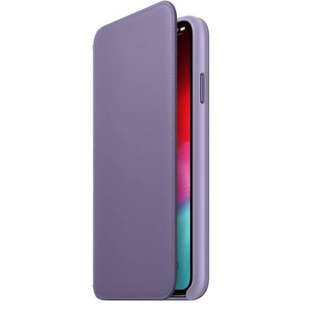 Apple iPhone XS Max Leather Folio - Lilac (Seasonal Spring2019)