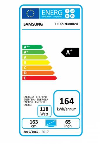 "Samsung 82"" 82RU8002 4K 3840 x 2160 UHD LED TV"