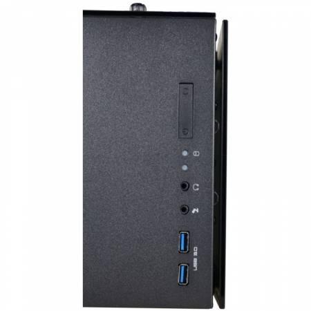 Кутия за настолен компютър INAZA Drone DRO01-BK +захранване Leadex Platinum 750W