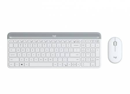 Logitech Slim Wireless Keyboard and Mouse Combo MK470 - OFFWHITE
