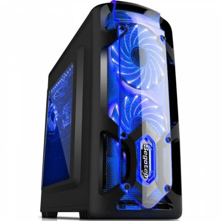 Кутия за настолен компютър Segotep Polar Light v3 POLARLGH2-BK