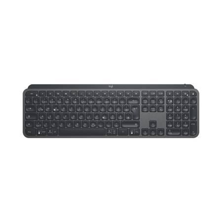 Logitech MX Keys Plus Advanced Wireless Illuminated Keyboard with Palm Rest - GRAPHITE - US INT'L - 2.4GHZ/BT - N/A - INTNL - WITH PALMREST