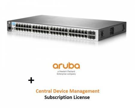 Aruba 2530 48G Switch + Cloud (Aruba Central Device Management 1 Token 1 Year Subscription E-STU) + Power Cord - Europe localization