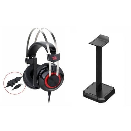Геймърски слушалки Redragon Tolas H601-1-BK с микрофон и стойка