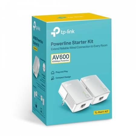 Адаптер Powerline TP-Link TL-PA411KIT AV600 Starter Kit