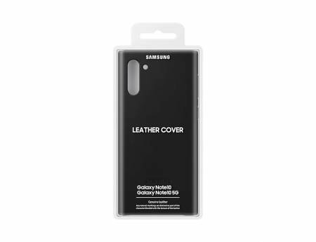 Samsung Note 10 Leather Cover Black