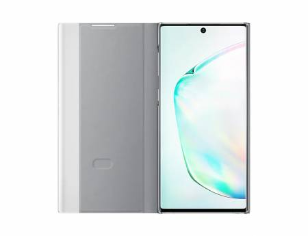 Samsung Note 10 Clear View Cover Silver