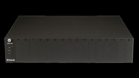 16‑слотно шаси за серия DMC медийни конвертори D-Link DMC‑1000