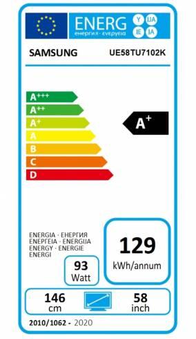 """Samsung 58"""" 58TU7102 4K UHD LED TV"""