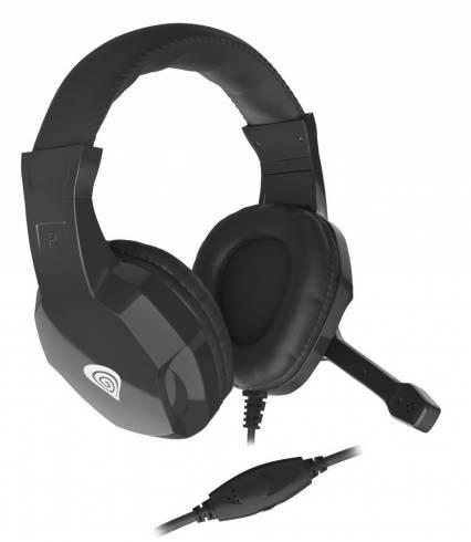 Геймърски слушалки с микрофон Genesis ARGON 100 black NSG-1434