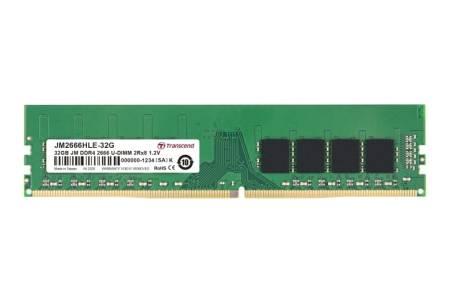 Transcend 32GB JM DDR4 2666Mhz U-DIMM 2Rx8 2Gx8 CL19 1.2V