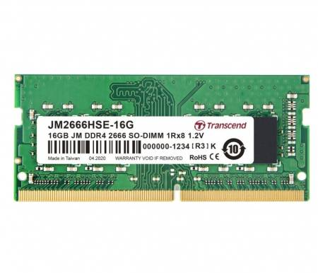 Transcend 16GB JM DDR4 2666Mhz SO-DIMM 1Rx8 2Gx8 CL19 1.2V