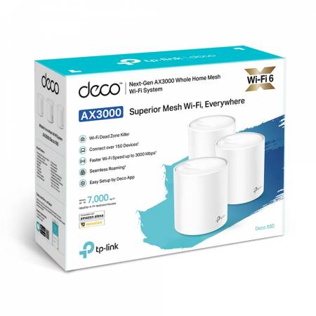 Безжична Wi-fi Mesh система TP-Link Deco X60 AX3000