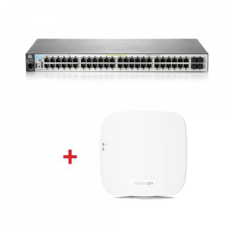 Aruba 2530 48G PoE+ Switch + Aruba Instant On AP12 (RW) Access Point