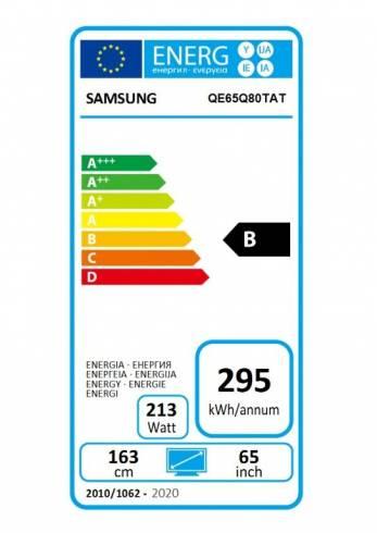 "Samsung 65"" 65Q80T QLED FLAT"