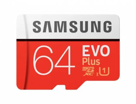 Samsung 64GB micro SD Card EVO+ with Adapter