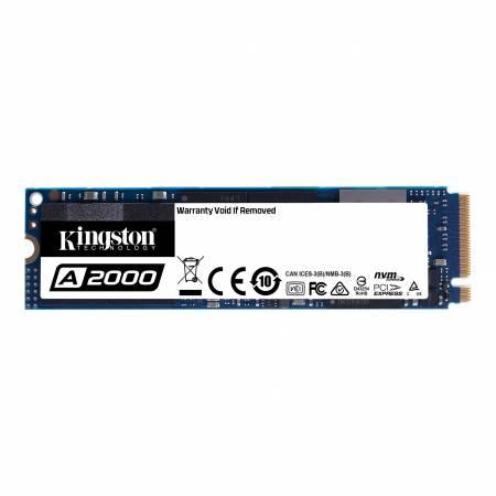 SSD Kingston 250GB A2000 PCIe Gen 3.0 x 4 NVMe (PCIe Slot) M.2 2280 3D NAND with XTS-AES 256-bit encryption