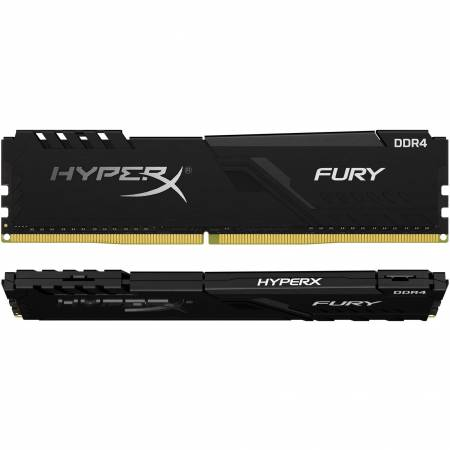 Памет Kingston 8GB (2 x 4GB) 288 DIMM 2666MHz DDR4 CL16 HyperX FURY Black