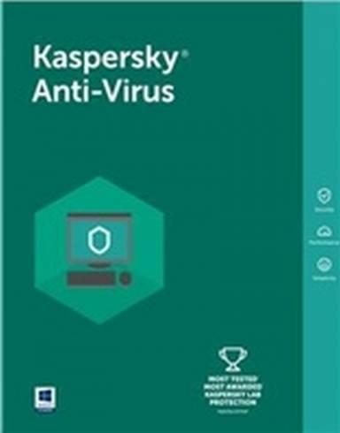 Kaspersky Anti-Virus Eastern Europe Edition. 3-Desktop 1 year Base Box