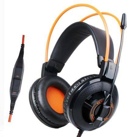 Геймърски слушалки с микрофон Somic G925 черно-оранжеви