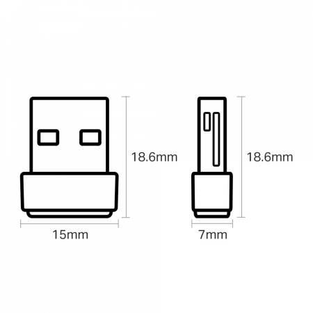 Безжичен USB nano адаптер TP-Link Archer T600U AC600