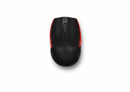 Безжична мишка Delux M321GX черно-червена