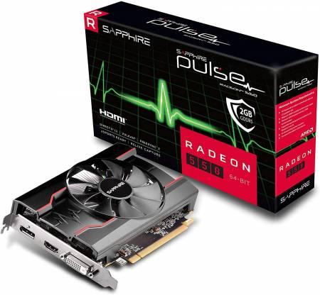 Видео карта Sapphire PULSE RADEON RX 550 2G GDDR5 HDMI / DVI-D / DP OC (64-BIT