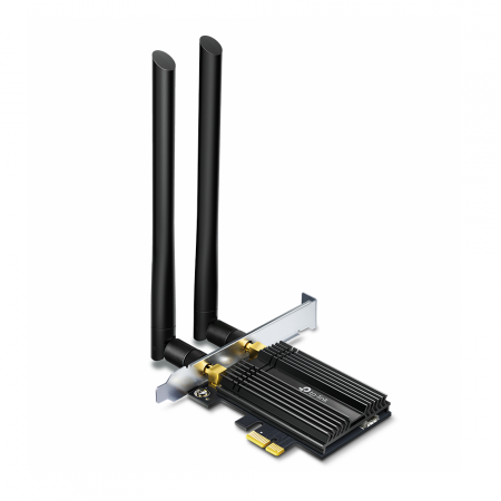 2-лентов Bluetooth 5.0 Wi-Fi6 PCIe адаптер TP-Link Archer TX50E AX3000