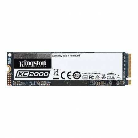 SSD Kingston 250GB KC2000 PCIe Gen 3.0 x 4 NVMe (PCIe Slot) M.2 2280 3D NAND with XTS-AES 256-bit encryption