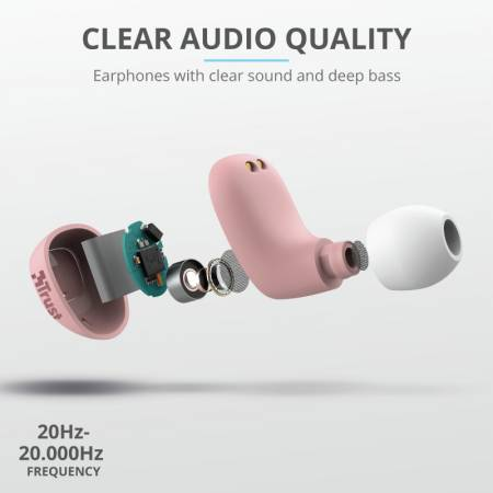 TRUST Nika Compact Bluetooth Earphones Pink