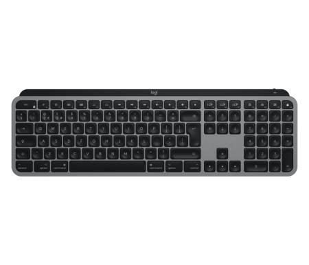 Logitech MX Keys for Mac Advanced Wireless Illuminated Keyboard - SPACE GREY - US INTL - 2.4GHZ/BT - N/A - EMEA