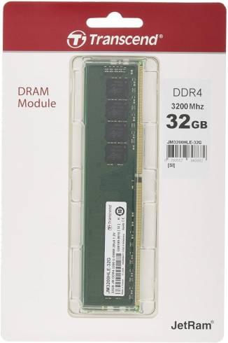 Transcend 32GB JM DDR4 3200Mhz U-DIMM 2Rx8 2Gx8 CL22 1.2V