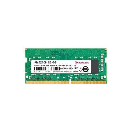 Transcend 8GB JM DDR4 3200Mhz SO-DIMM 1Rx8 1Gx8 CL22 1.2V