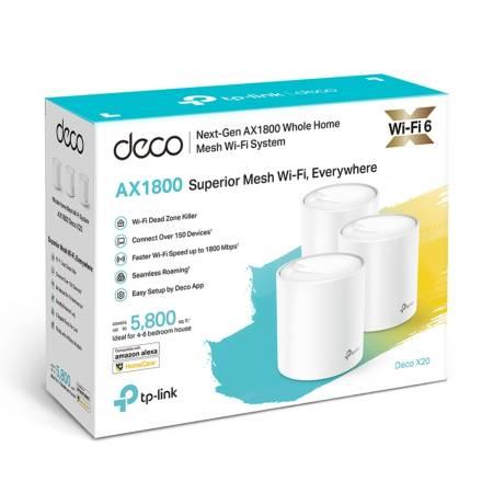 Безжична Wi-fi 6 система TP-Link Deco X20(3-pack) AX1800