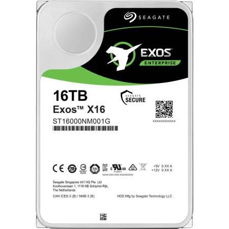 Seagate Exos X16 16TB HDD 7200 RPM 512e/4Kn SATA 6Gb/s 256MB Cache 3.5
