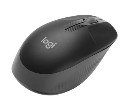 Logitech M190 Full-size Wireless Mouse - CHARCOAL - 2.4GHZ - N/A - EMEA - M190