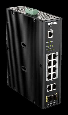 12-портов индустриален L3 управляем комутатор D-Link DIS-200G-12PS
