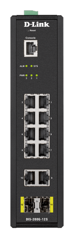 12-портов индустриален управляем комутатор D-Link DIS-200G-12S