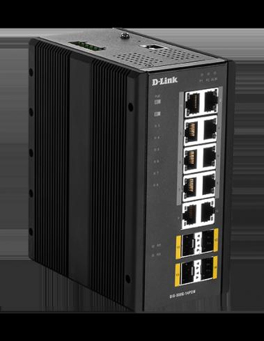 14-портов гигабитов индустриален комутатор D-Link DIS-300G-14PSW
